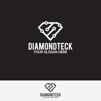 Logo tecnologia diamante