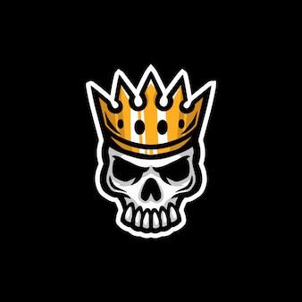 Logo teschio re mascotte esport gioco