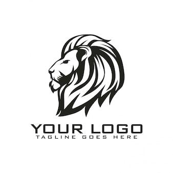 Logo testa di leone vintage