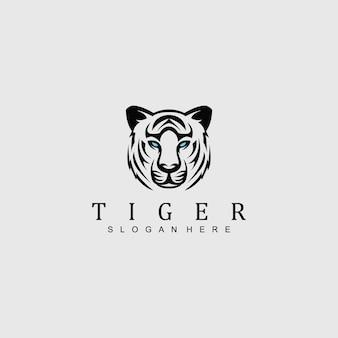 Logo tiger head per qualsiasi attività commerciale