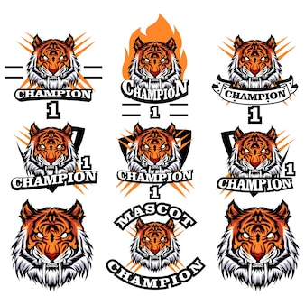 Logo tiger set