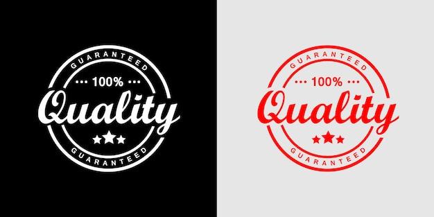 Logo timbro prodotto di qualità garantita al 100%
