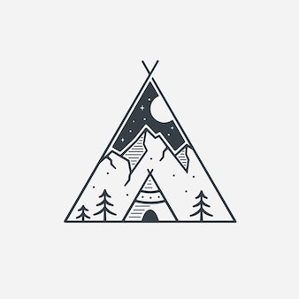 Logo Tribe Line Art Inspiration