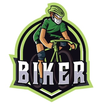 Logo verde biker e sports