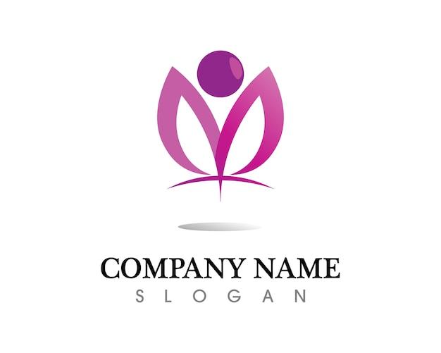 Logo vettoriale foglia albero
