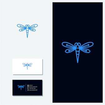 Logo vettoriale libellula
