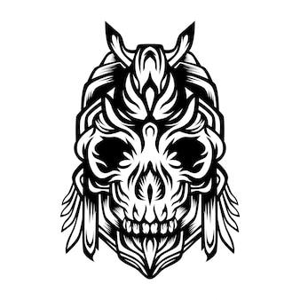 Logo vettoriale teschio