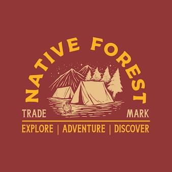 Logo vintage avventura