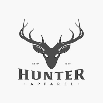 Logo vintage dei cervi