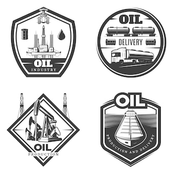 Logo vintage dell'industria petrolifera