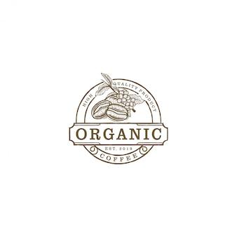 Logo vintage di caffè azienda agricola per i prodotti