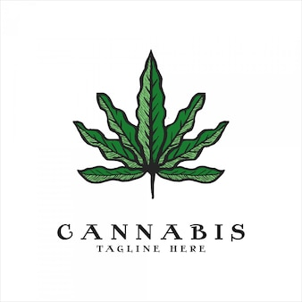 Logo vintage di cannabis