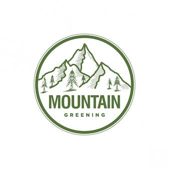 Logo vintage di montagna