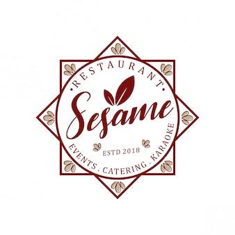 Logo vintage di sesamo