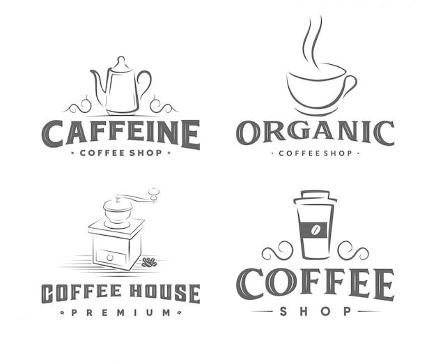 Logo vintage girarrosto per caffè