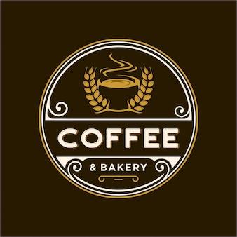 Logo vintage per caffè e prodotti da forno