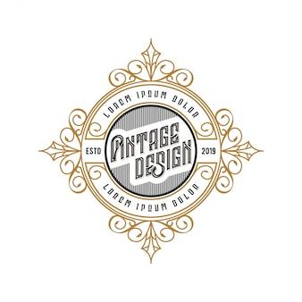 Logo vintage per cibo o ristorante