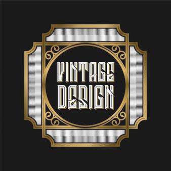 Logo vintage per etichetta caffè o ristorante e caffetteria