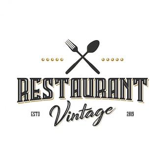 Logo vintage per etichetta o ristorante e caffetteria