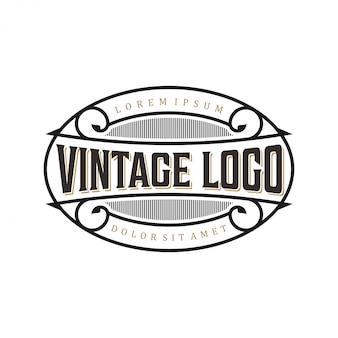 Logo vintage per etichette di cibo / bevande o ristoranti e caffè