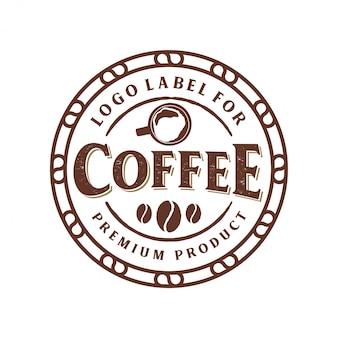 Logo vintage per prodotto di caffè o negozio di caffè