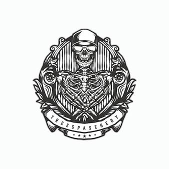 Logo vintage teschio