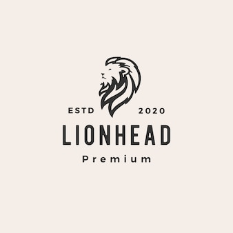 Logo vintage testa di leone