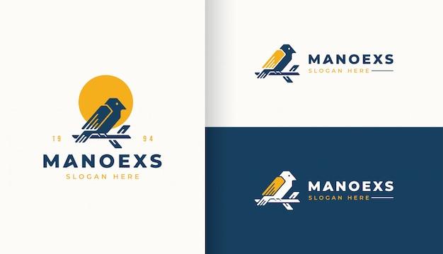 Logo vintage uccello design