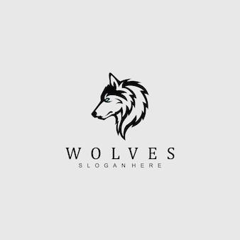 Logo wolf per qualsiasi azienda / azienda