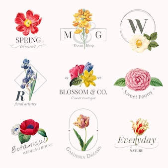 Logoset marchio di fiori