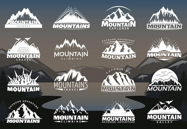 Logotipi di montagne d'epoca