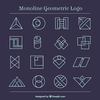 Logotipi geometrici di monoline