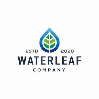Logotipo a foglia piatta