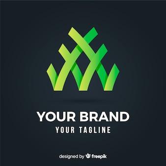 Logotipo di affari astratto arrotondato gradiente