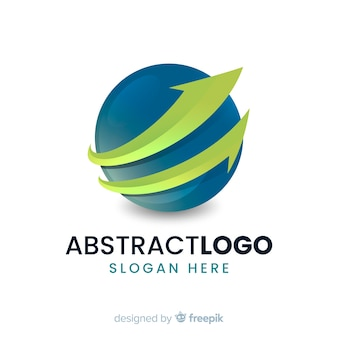 Logotipo di affari astratto arrotondato gradiente