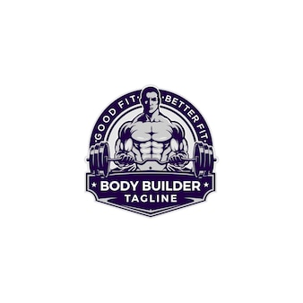 Logotipo di bodybuilder
