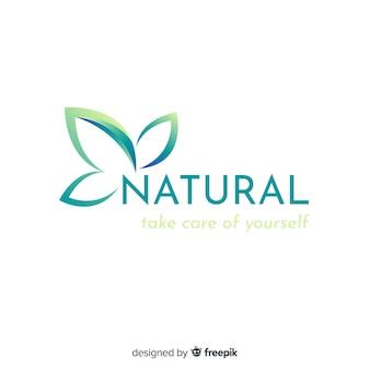 Logotipo di concetto di natura gradiente piatto