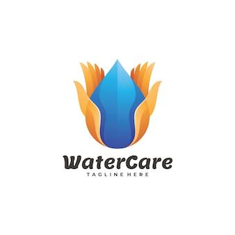 Logotipo di cura dell'acqua
