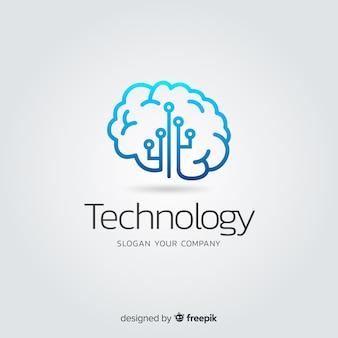 Logotipo di società di tecnologia astratto gradiente