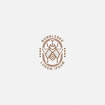 Logotipo o logo line art di calabrone