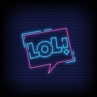 Lol lettering insegne al neon