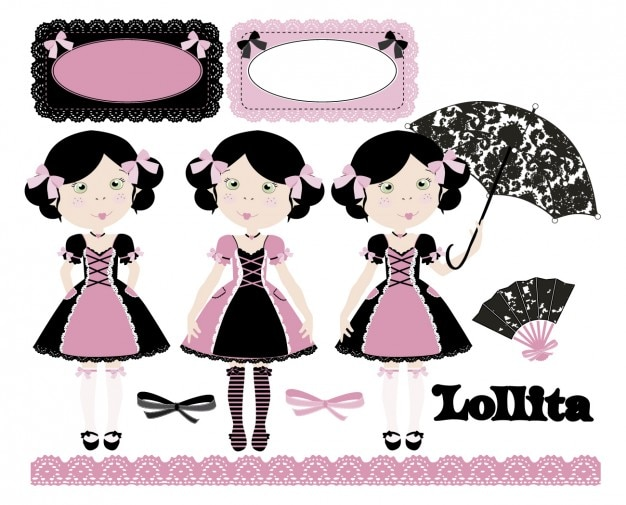 Lollita in rosa e nero