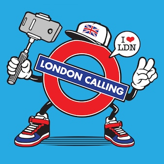London character united kingdom selfie character design