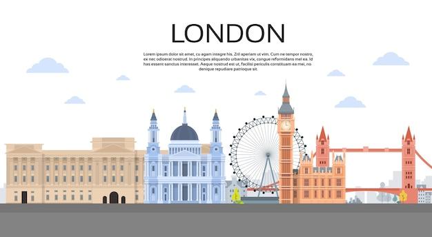 London english city view copy space
