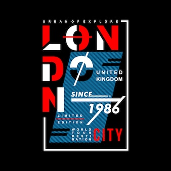London moden typography graphic t shirt design