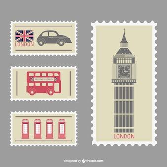 London vettore francobolli