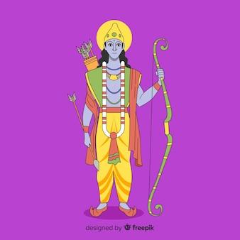 Lord rama con freccia e fiocco