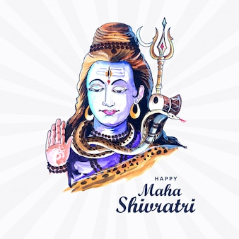 Lord shiva con il dio indiano degli indù per maha shivratri