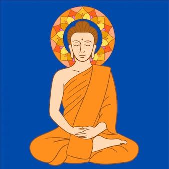 Loto del buddha che medita
