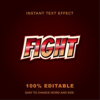 Lotta gioco effetto testo moderno